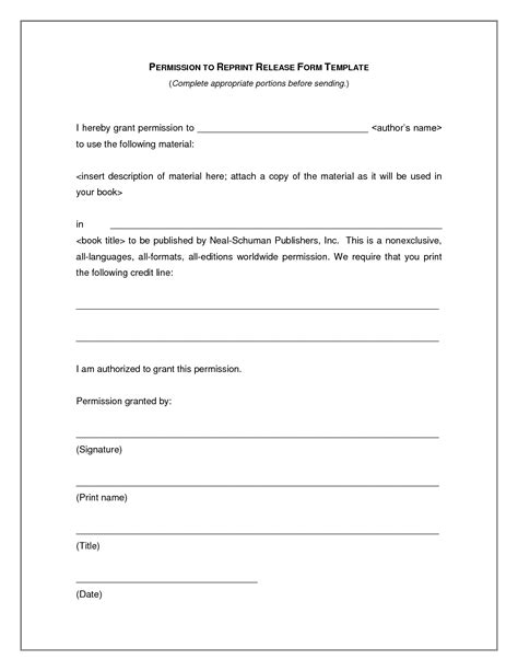 photography print release form template photo print release form template free