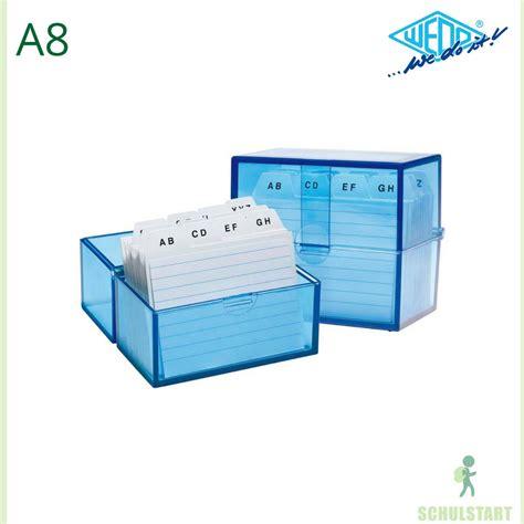 karteikarten kasten karteikasten a8 blau mit 100 karteikarten gef 252 llt