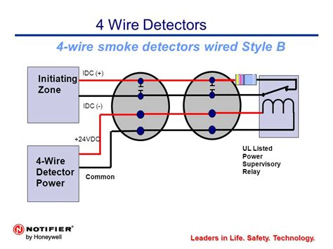 4 wire smoke detector wiring diagram detectors even