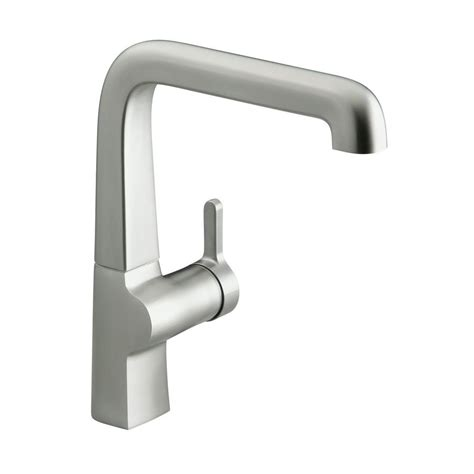 kohler evoke kitchen faucet kohler evoke mid arc single handle standard kitchen faucet in vibrant stainless steel k 6333 vs