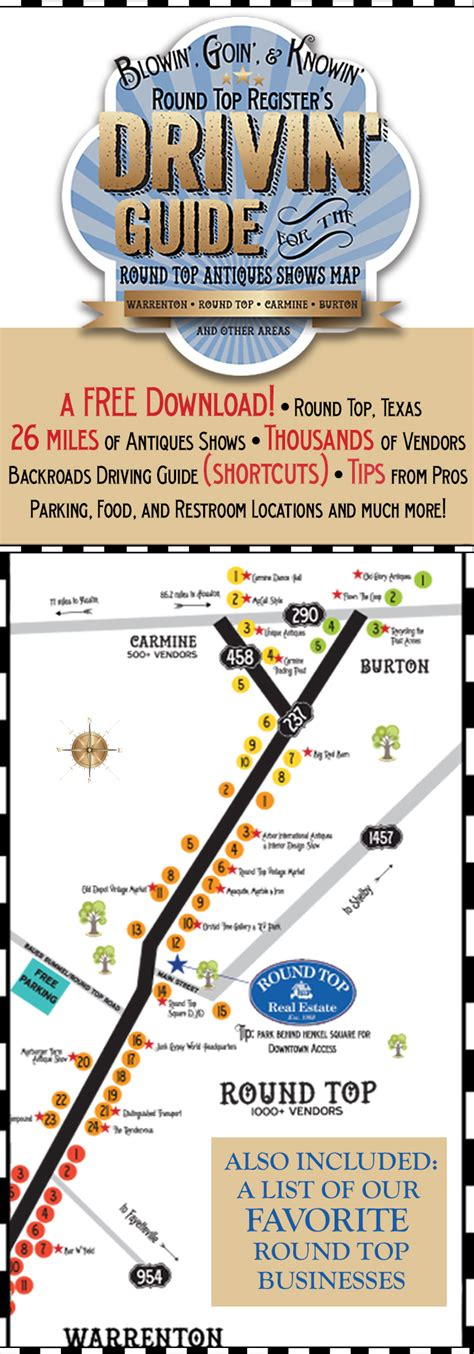 roundtop texas map top antiques show map helps newbies and veterans navigate the 20 plus mile antiques
