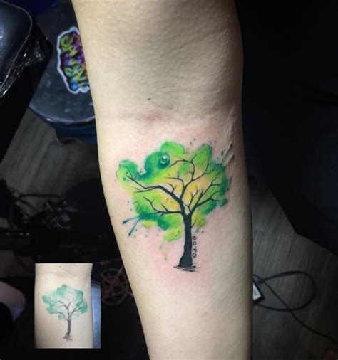 cute watercolor tree tattoo venice tattoo art designs