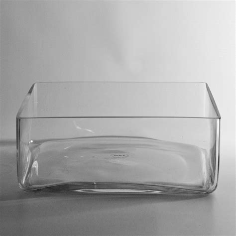 Low Square Vase by Square Glass Dish Garden Vases