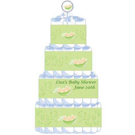Three Peas In A Pod Baby Shower by 4 Tier Triplets Three Peas In A Pod Caucasian Baby Shower