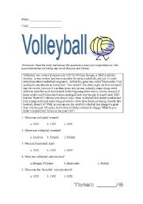 printable volleyball worksheets worksheets volleyball worksheets opossumsoft worksheets