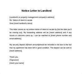 Notice Letter To Landlord Template by Doc 600600 30 Days Notice Letter To Landlord Free