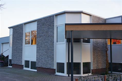 Home Design Exterior Panel Piedra Laja Fina Combinada