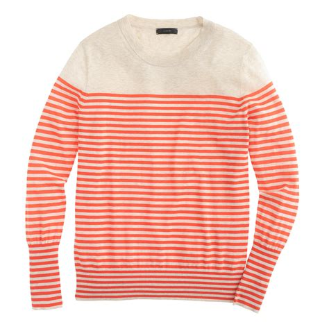 Cardigan Orange Stripe White Orange Striped Cardigan Outdoor Jacket