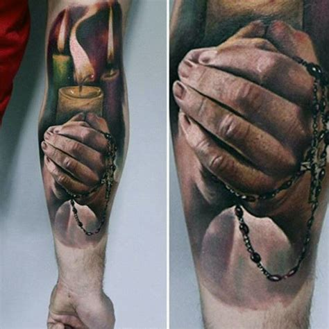 realistic cross tattoos 70 praying designs for silence the mind