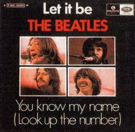 Lets Up The Look Book by Let It Be Single Artwork Portugal The Beatles Bible