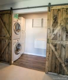 Laundry Room Make Over - diy double barn door plans infarrantly creative