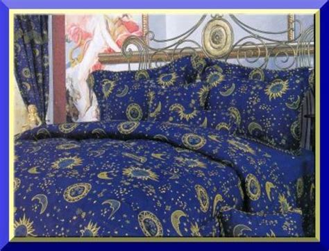 sun and moon bed set queen r1 beautiful blue sun moon stars 7 piece