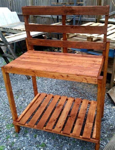 how to make a potting bench pallet potting bench step by step