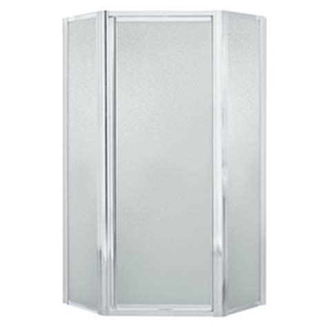 Sterling Neo Angle Shower Door Shop Sterling 36 125 In W X 72 In H Silver Neo Angle Shower Door At Lowes