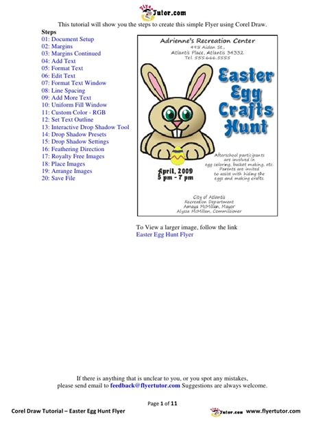 flyer design tutorial corel draw corel draw tutorials easter egg hunt flyer