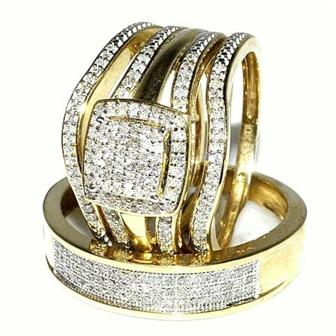 3piece ring get most brilliant 3 wedding ring sets for