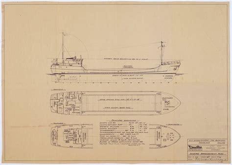 vlet 3 urk scheepsbouwtekening van de kustvaarder tower helen