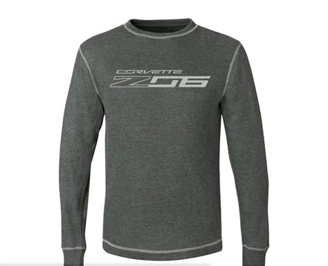 c7 corvette z06 2014 vintage thermal sleeve shirt w