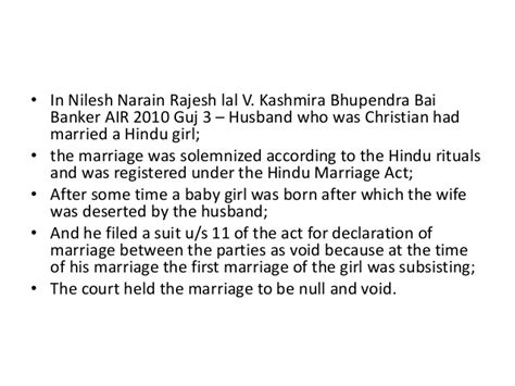 section 27 of hindu marriage act marriage uner hindu law