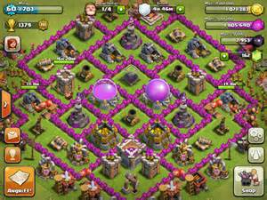 Map level 9 clash of clans clans rathaus level 8 map