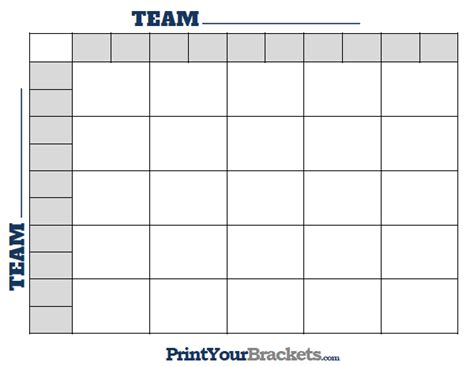 Office Football Pool 25 Squares Printable Nfl Football 25 Square Grid Office Pool