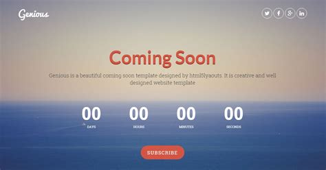coming soon page template 150 best free and premium bootstrap website templates of 2017