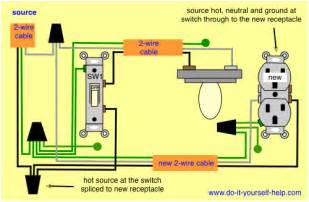wiring diagrams to add a receptacle outlet do it yourself help