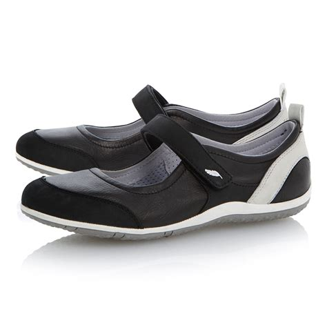 geox velcro leather flat sports shoes in