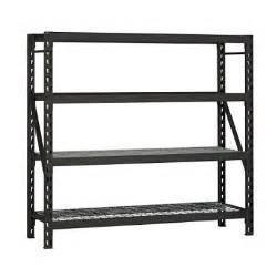 Heavy Duty Bookshelves Edsal Heavy Duty 4 Level Steel Shelving Sam S Club