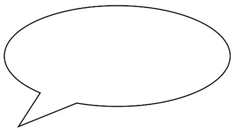 Speech Bubble Writing Template Clipart Best Speech Bubbles Printable