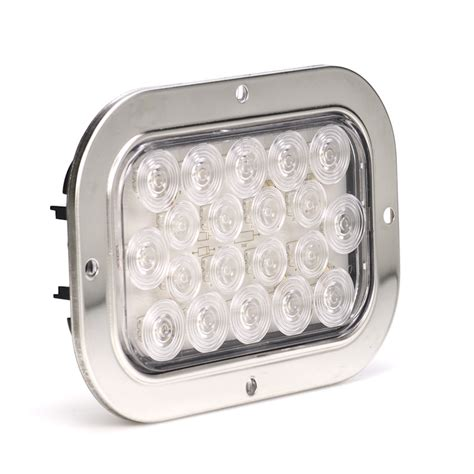 led trailer lights with reverse 6 quot rectangle led back up truck trailer lights with built