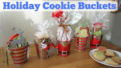 christmas ideas that start with a r diy cookie buckets gift ideas