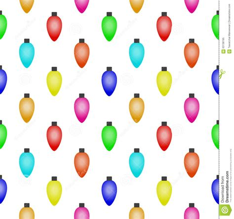 seamless pattern with colorful christmas lights stock