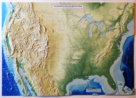 map usa relief united states geophysical raised relief map