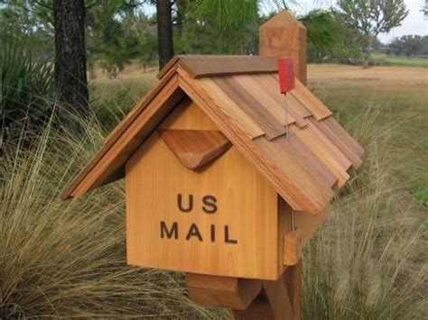 Handcrafted Mailboxes - handcrafted cedar wood mailboxes custom mailboxes