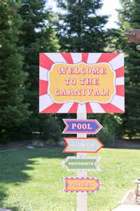 Backyard Carnival Party Diy Carnival Sign Evite