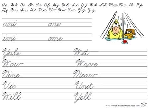Printable Cursive Worksheets by Easy Review Worksheets Printable Cursive Handwriting