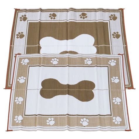 rv rugs and mats fireside patio mats chocolate 6 ft x 9 ft polypropylene indoor outdoor reversible patio