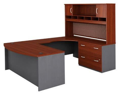 Bush U Shaped Desk Bush Series C U Shaped Desk With 2 Door Hutch And Lateral File Desks At Hayneedle