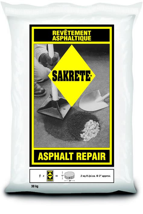 sakrete asphalt repair dirt depot inc