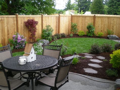 Great Small Backyard Ideas Small Backyards Traditional Landscape Seattle By Puget Sound Landscaping Inc