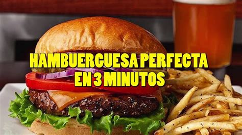 como cocinar hamburguesas como cocinar hamburguesas en 3 minutos youtube
