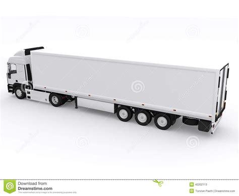 trailer white white truck with trailer stock illustration image 40202113
