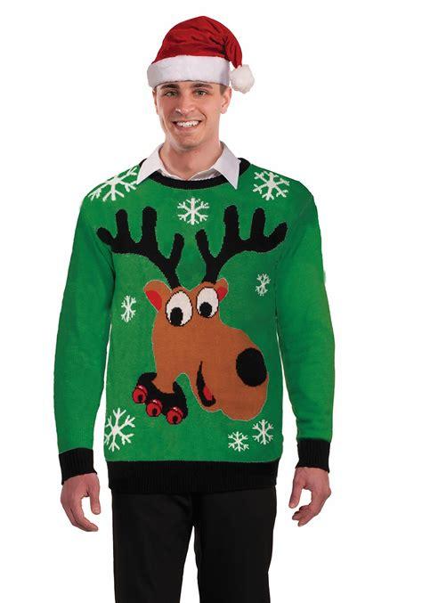 adult reindeer ugly christmas sweater