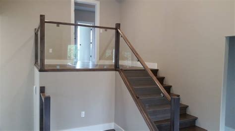 glass railing inside home interior glass railing home design ideas and pictures