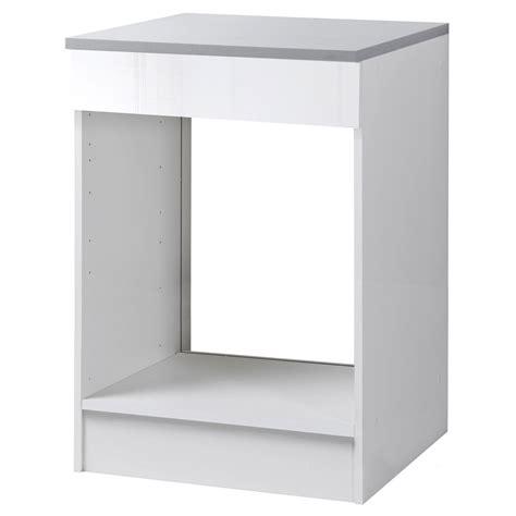 meuble de cuisine blanc brillant meuble de cuisine bas four blanc brillant h86x l60x