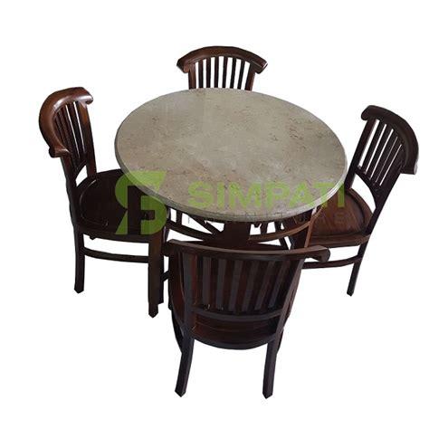 Meja Makan Bulat Marmer meja makan kursi makan dining table meja makan minimalis