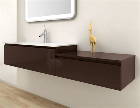 infinity in19 modular italian bathroom vanity in brown lacquer