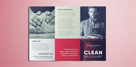 scribus brochure templates amazing clean trifold brochure template free