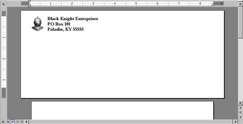envelope address printing template automate the addition of a graphic to an envelope using